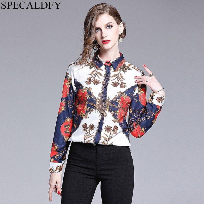 df9dcdf1ceb New Luxury 2018 Autumn Summer Women Floral Print Runway Shirt High ...