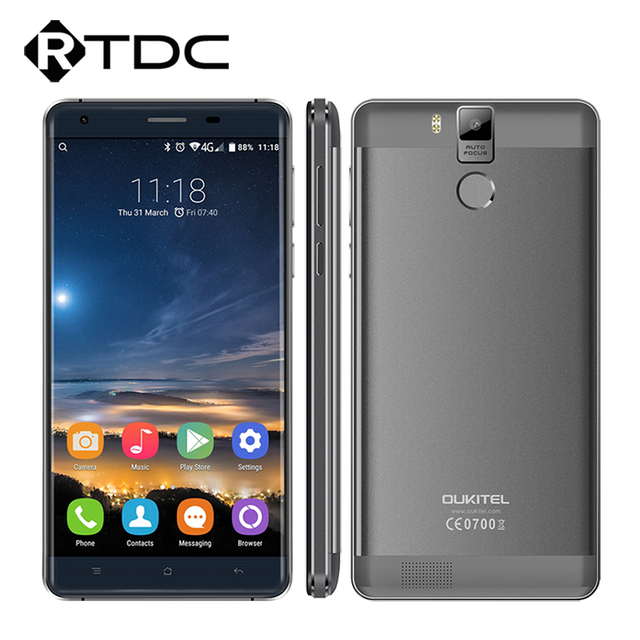 "In Stock Original Oukitel K6000 Pro 4G LTE Mobile Phone Octa Core 5.5""FHD 1920x1080 3GB RAM 32GB ROM 13.0MP Fingerprint 6000mAh"