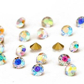 0b92b3391 Rose Base Crystal AB Rivoli Glass Crystals Glitter Rose Base Strass  Pointback Glue On Rhinestones For Wedding Shoes Accessories us$ 4.86/piece