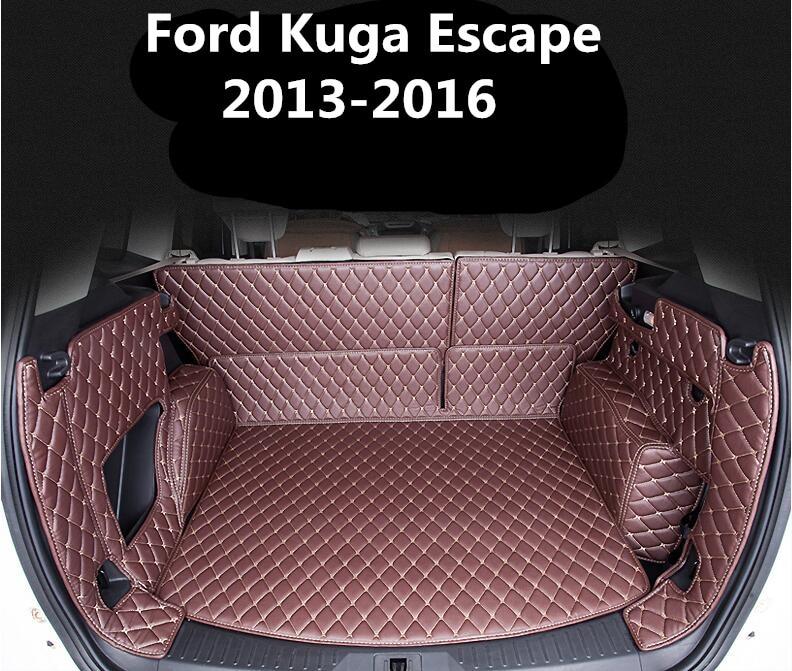 Full Rear Trunk Tray Liner Cargo Mat <font><b>Floor</b></font> Protector foot pad mats for 13-16 <font><b>Ford</b></font> Kuga <font><b>Escape</b></font> 2013 2014 2015 2016 (6colors)