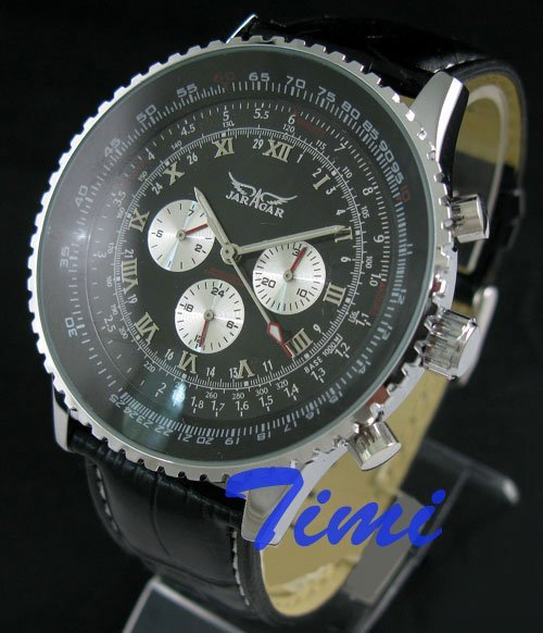 NEW Deluxe Fashion AUTO 6 Hand Multi Function Mens Watch freeship