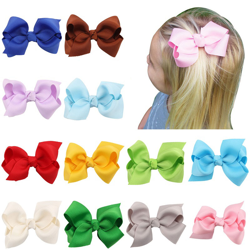 3 Newly Design Fashion Solid Bow Hairpins Hair Clips For Children Kids Girls Hair Butterfly Candy Color Ribbon Hair Accessories trendy solid color butterfly hair comb for women