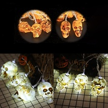 Halloween Decoration Lights LED DIY White Ghost String Battery Operated For Home Party
