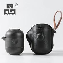 TANGPIN ceramic teapot gaiwan with 2 teacups coffee tea set portable travel tea set drinkware tangpin japanese ceramic teapot gaiwan teacups portable travel tea set with travel bag