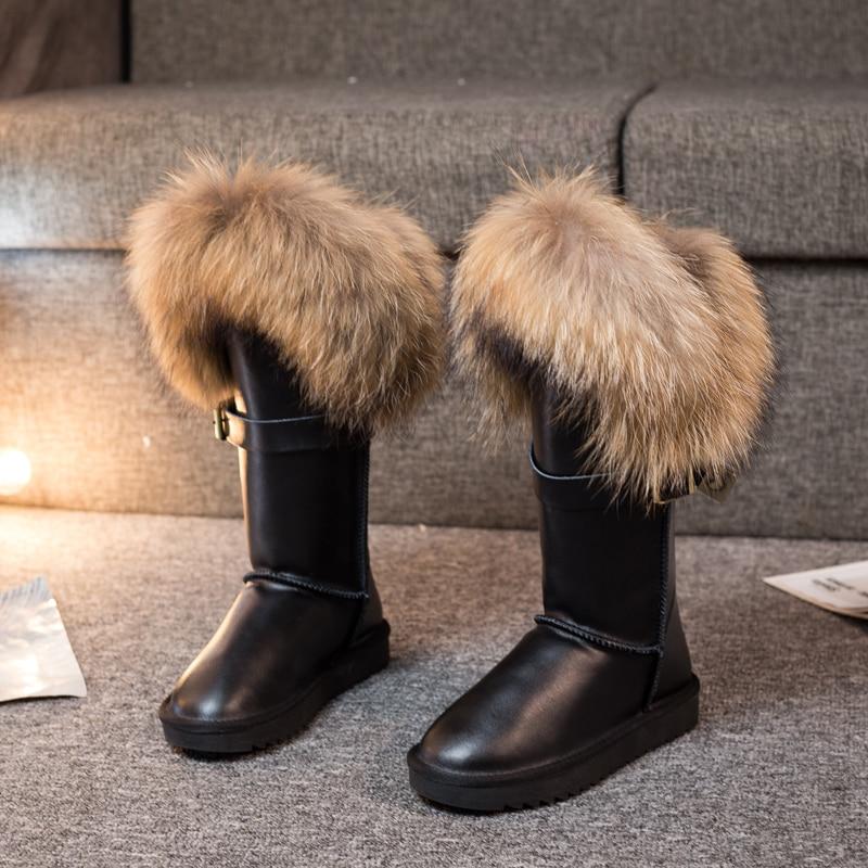 Nouveau Femme Cheville Chaud Hiver Neige Talon Bas Confortable doublé de fourrure bottes taille