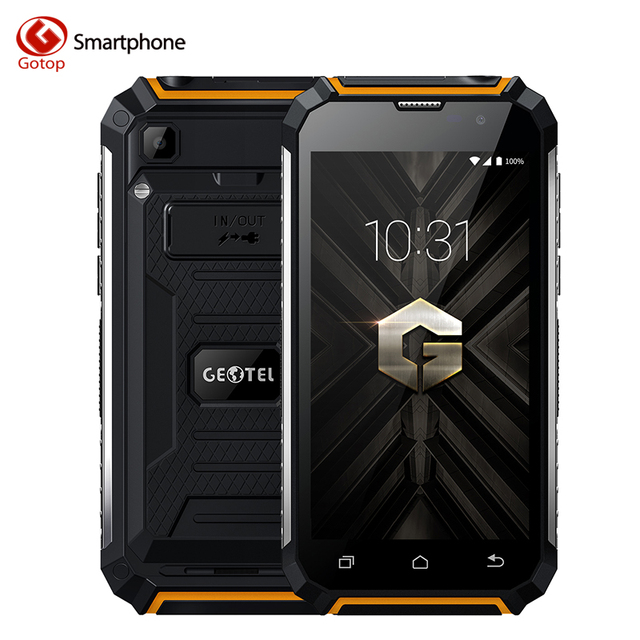 Geotel G1 Power Bank Cell Phone MTK6580A Quad Core 5.0 Inch Android 7.0 Smartphone 2GB RAM 16GB ROM 7500mAh Battery Mobile Phone