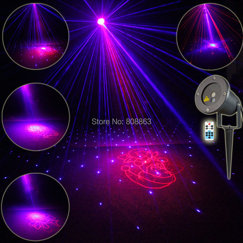Outdoor Waterproof R&B Laser 8 Christmas Patterns Projector Remote DJ Holiday House Tree Landscape Wall Garden Effect Light T56 new generation of led outdoor firefly light projector waterproof display landscape square garden tree christmas laser lighting page 9 page 8