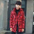 Камуфляж Печати Новый Стиль Зимние Куртки Мужская Куртка Мужчины Doudoune Homme Hiver Марка Зимнее Пальто Мужчины