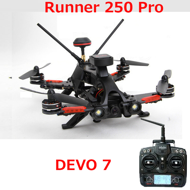 (In stock) Original Walkera Runner 250 PRO GPS Racer quadcopter drone with 800TVL or 1080P camera/OSD/GPS/DEVO 7 transmtter RTF