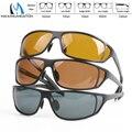 Maximumcatch titanium marco de metal mosca pesca gafas de sol polarizadas amarillo marrón y gris para elegir gafas de sol de pesca