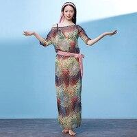 2019 Baladi Dress Belly Dance Dress Dolman Sleeve 4 Pcs Bellydance Costumes For Women Bellydance Clothes Baladi