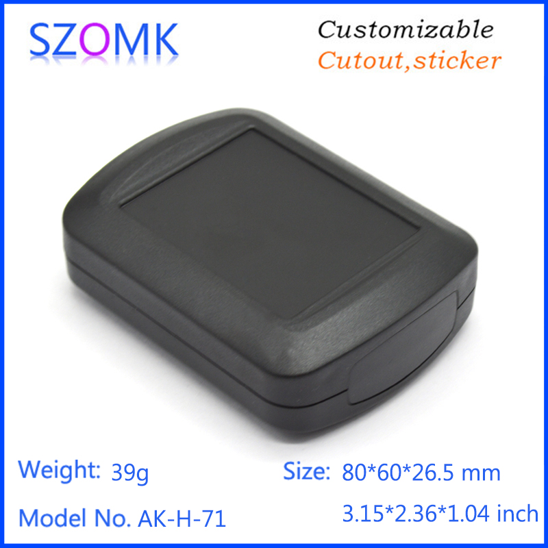 1 piece, 80*60*26.5mm plastic instrument housing abs plastic enclosure for electronics plastic case diy handheld project box