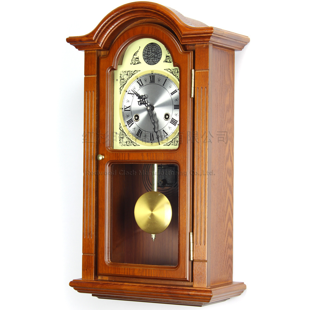 Online Shop European wood wall clock pendulum Tuo living room wall