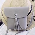 Famous Brand Women Bags Tassel Handbag High Quality Pu Leather Hasp Crossbody Shoulder Bags Mini Phone Clutch Gray Solid Sac x02