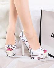 Wholesale women's shoes peep toe high heels nightclub platform Stilettos OL singles shoes shallow mouth high with shoes