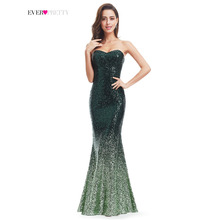 Sparkle Prom Dress Ever Pretty Women Mermaid Sweetheart Strapless EP07001 Ombre 2017 Gorgeous Long Sequin Party Prom Gown