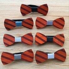 Мода ручной работы мужской деревянный галстук-бабочка галстук Новинка свадебный деревянный Жених вечерние бабочка под смокинг галстук BBB0062