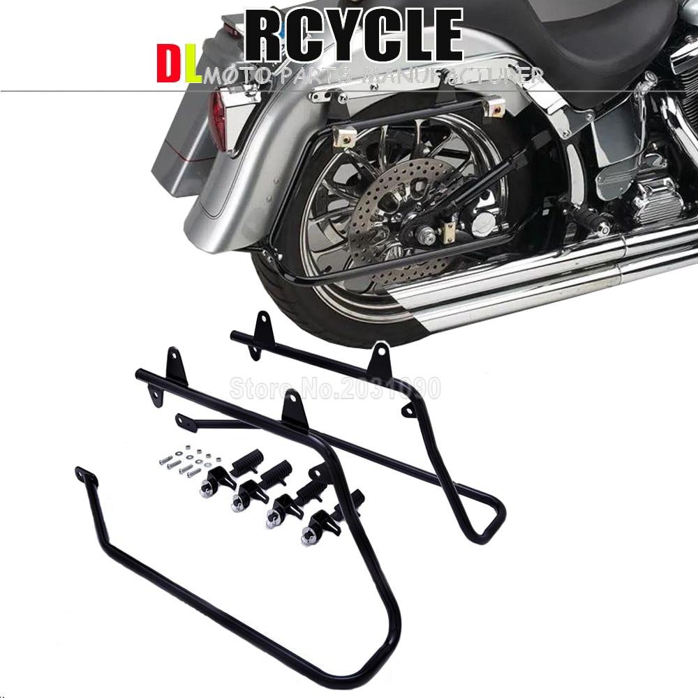 chromium Motorcycle Saddlebag Conversion Mount Brackets For Harley Softail Models Saddlebag Bracket 1986 2013
