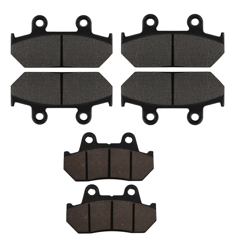 Motorcycle Front and Rear Brake Pads for HONDA GL1500 A Aspencade / I Interstate 1990-2000 Black Brake Disc Pad Set motorcycle front and rear brake pads for yamaha fzr 400 a fzr400a 1990 brake disc pad