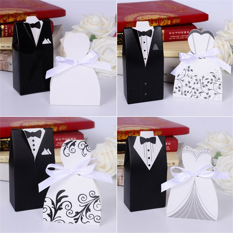 100pcslot Wedding Party Decoration Candy Bar Craft Paper Candy Box