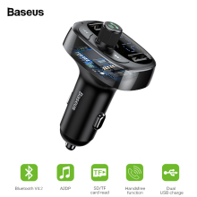 Baseus FM Transmitter Bluetooth Aux Car Charger Kit Handsfree MP3 Play
