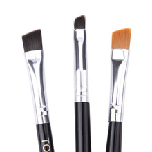 3PCS Make Up Foundation Professional  Eyebrow Makeup Brushes Set Eyeliner Lip Brush Tools