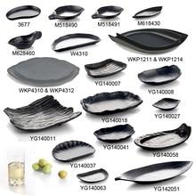 New Fashion Plate Melamine Tableware Leaf Fashionable Restaurant With A5