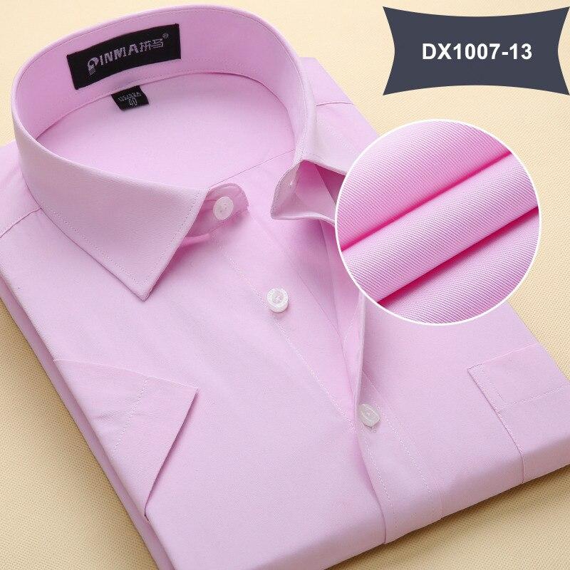 Летняя Стильная мужская одежда, мужская повседневная рубашка с коротким рукавом и отложным воротником, мужские рубашки, одноцветные рубашки для мужчин - Цвет: DX100713