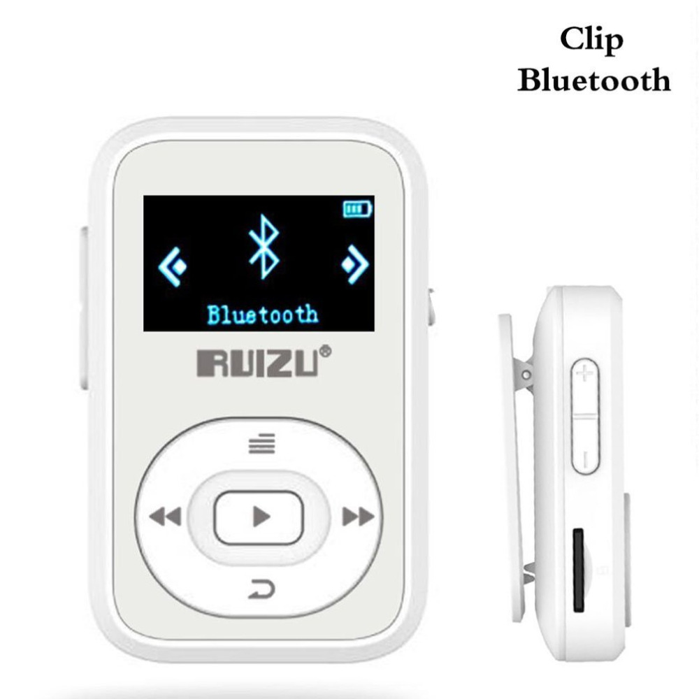WunderschöNen Ruizu X26 8 Gb Clip Sport Bluetooth Mp3 Musik-player Mit Fm Radio Rekord Verlustfreie Sound Tragbare Walkman unterstützt Bis Zu 64 Gb Hochglanzpoliert