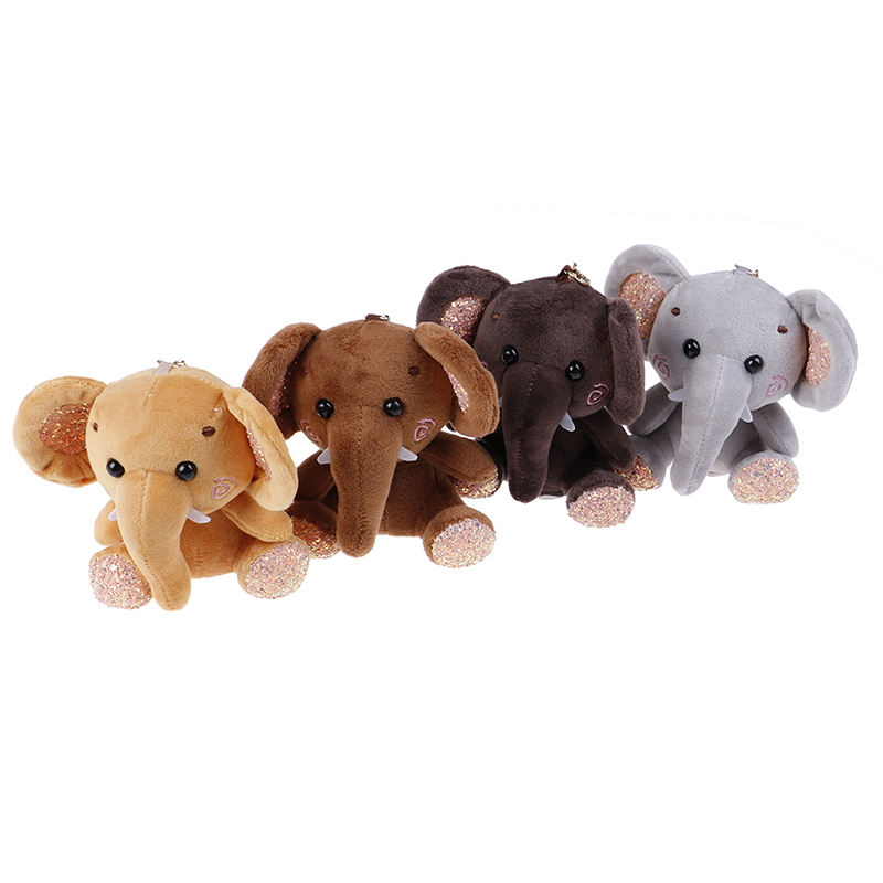 1PCS 10cm Cute Small Dumbo Stuffed Animal Plush Toy Pendant Lovely Mini Cartoon Elephant Doll Presents For Children Key Chain