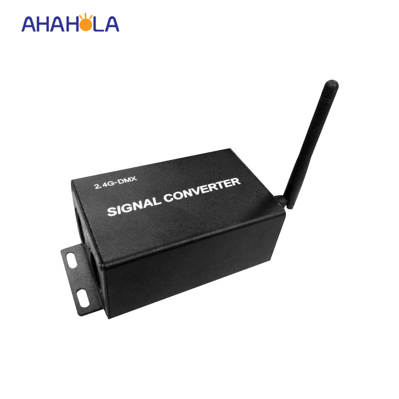 2.4g wireless dmx relay controller transmit dmx 512 signal to drive led lamps dc 12-24v support 512 channel max distance 200m dmx512 digital display 24ch dmx address controller dc5v 24v each ch max 3a 8 groups rgb controller