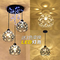 Modern brief crystal pendant light led stair entranceway balcony personalized black white lamps