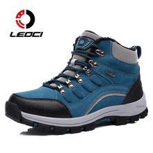 Зимой любители Треккинговые ботинки мужские кроссовки 9908 Обувь на теплом меху Для женщин восхождение Спортивная обувь Открытый Путешествие Mountain Ботинки Botas треккинг Hombre
