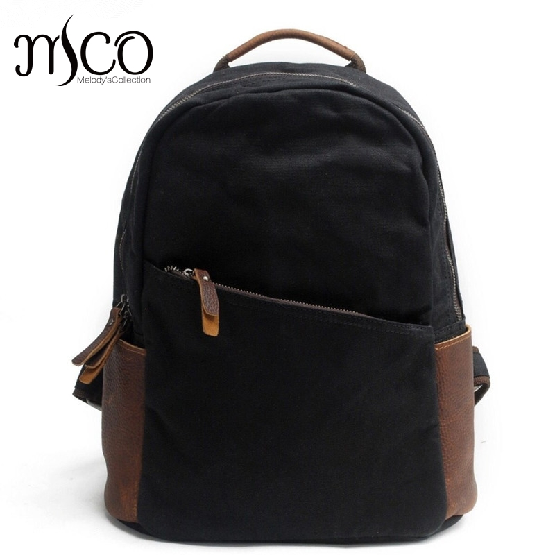 Unisex Canvas Vintage Backpack Youth School Bags Men Casual Laptop Bag Women Bookbag Shoulder Bag New Travel Waterproof backpack 14 15 15 6 inch flax linen laptop notebook backpack bags case school backpack for travel shopping climbing men women