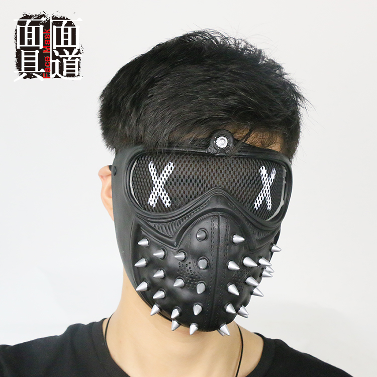 Game Cosplay <font><b>Mask</b></font> <font><b>Watch</b></font> <font><b>Dogs</b></font> <font><b>2</b></font> <font><b>Mask</b></font> <font><b>Wrench</b></font> Holloway <font><b>Mask</b></font> Casual Tangerine <font><b>Mask</b></font> Halloween Party Prop image