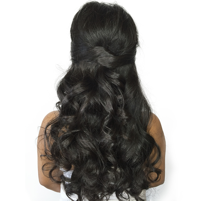 Brazilian Virgin Hair With Closure 4Pcs/Lot Body Wave Human Hair Bundles With Lace Closure 5x5 Honey Queen Hair Products