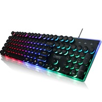 KB202 Wired Gaming Backlit Mechanical Feeling Keyboard Multimedia Lighting Color ABS USB Computer Keyboard