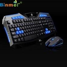 Top Quality Blue 2.4GHz Wireless Gaming Keyboard+1000-2000DPI Wireless Mouse Set Ergonomic Design Multimedia Gamer APR26