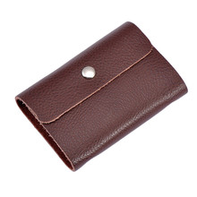 2016 New Arrival Fashion PU Leather Card Pack For Bank Card ID Holders Vintage Solid Dec13
