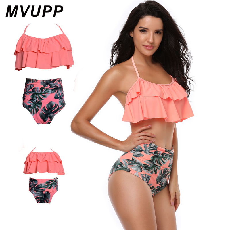 цены на mother and daughter swimsuit mommy and me swimwear bikini family matching clothes outfits look mom mum baby dresses clothing в интернет-магазинах
