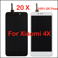20pcs 100 Tested LCD Display Repairing Parts Free Tools Replacement Glass Touch Screen Digitizer Assembly For