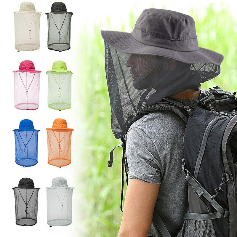 Mosquito Camping Midge Net Insecte Maille Protecteur Chapeau Tête 2PCS