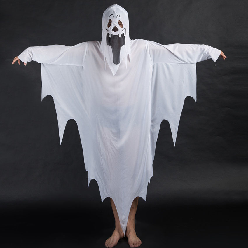 Halloween Scary Clothes Ghost Day of The Dead Demon Unisex Horror Spooky Fancy Dress Cosplay Costumes Adult Kid Performance Set