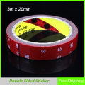 3m x 20mm Tape Double Sided Sticker Acrylic Foam Adhesive, Car Interior Tape Free Shipping