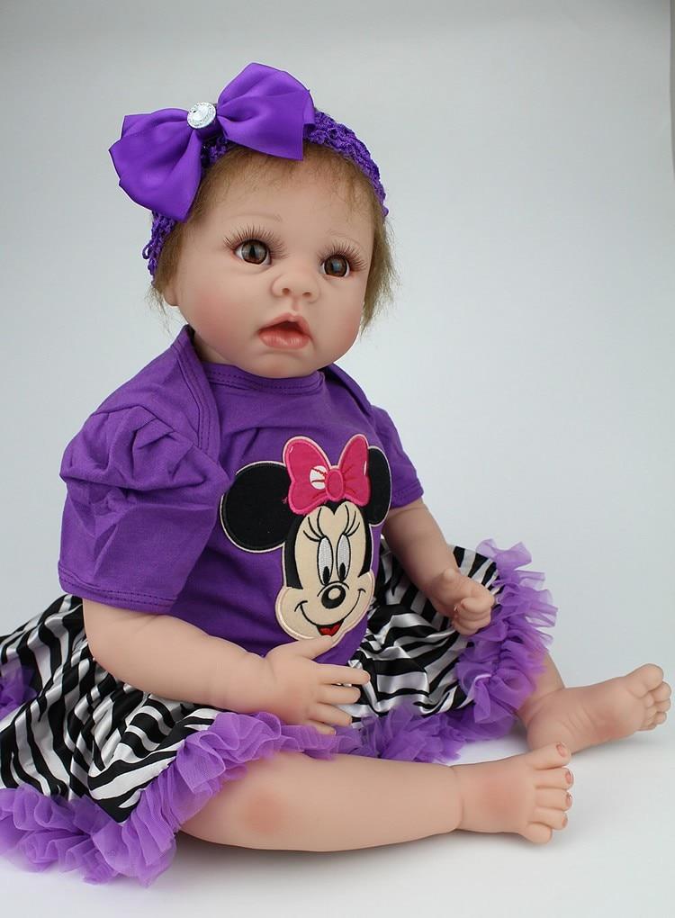 Uusin Silikoni Reborn Baby Doll myytävänä 55cm Lifelike Handsome Reborn Baby Dolls Joululahja Lahja Brinquedos lapsille