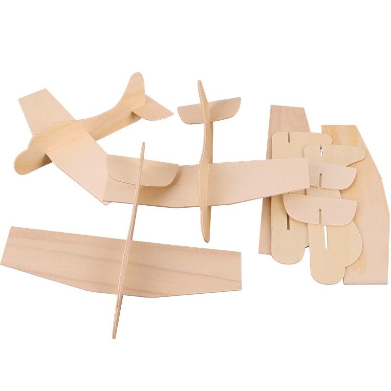 6 шт./партия. DIY& расписанную Незаконченный самолет. Дерево Игрушечные лошадки дети Игрушечные лошадки детский сад ремесел Обучение и образование Игрушки для рисования