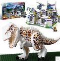 Nueva base de bloques de construcción de Juguete TS8000 Tyrannosaurus Jurassic world Jurassic Park escape Montado 856 unids niño dinosaurio T-rex regalo
