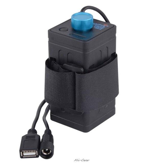 8.4V Impermeabile Usb 4X18650 Batteria di Caso di Immagazzinaggio Box per La Bici Ha Condotto Smart Phone