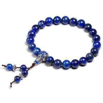 bracelet bouddhiste lapis lazuli