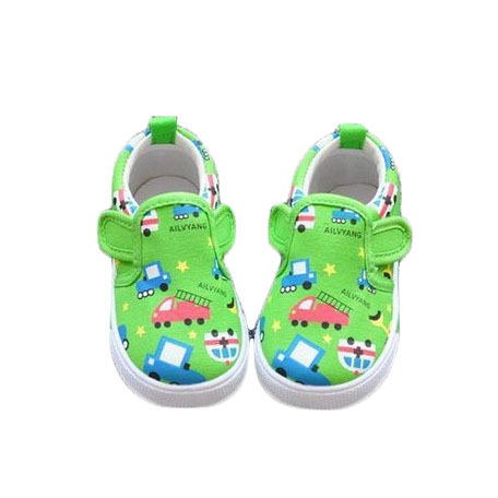 Colored Drawing Car Cartoon Child Canvas Shoes Kids Sneakers